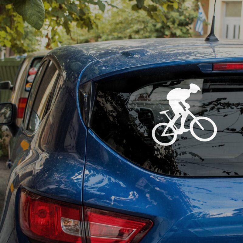 Samolepka Cyklista na auto, sklo nebo zed'