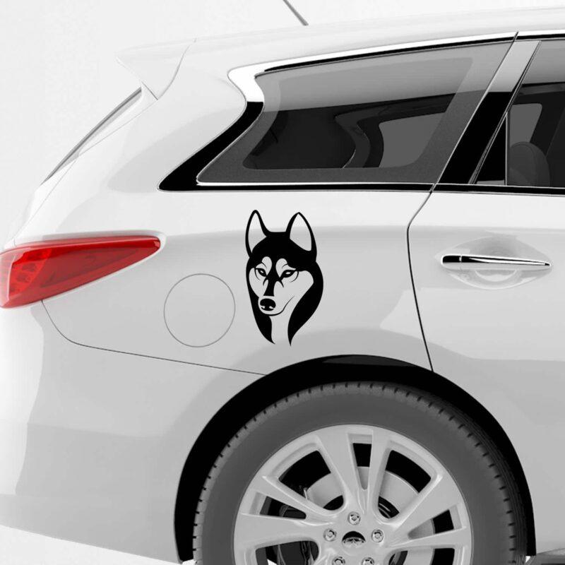 Samolepka Husky na auto