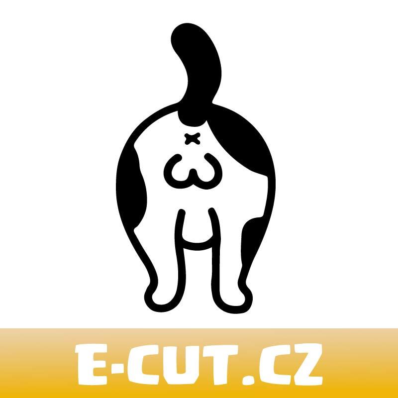 Samolepka Kočičí prdelka