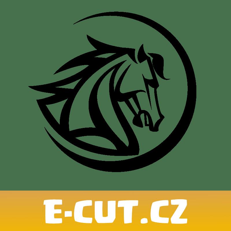 Samolepka Kůň Round Logo na auto
