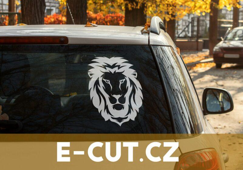 Samolepka Lev na auto, sklo nebo zed'