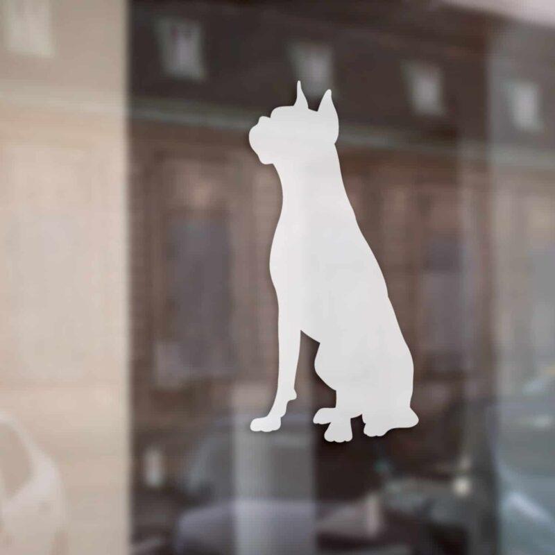 Samolepka na auto pes Boxer