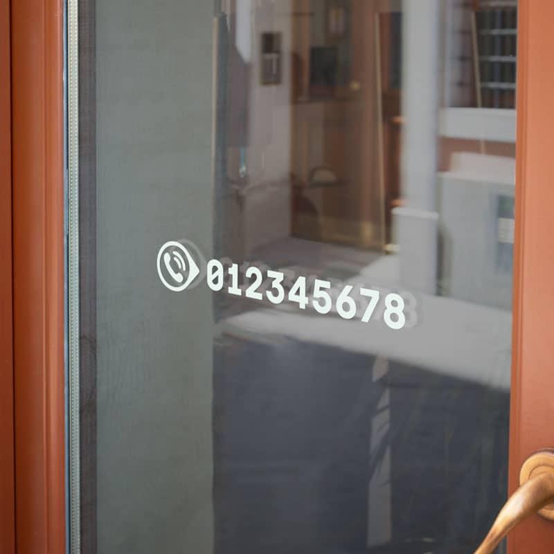 Samolepka Telefonní číslo