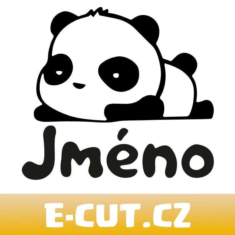 Samolepka Panda (Vaše jméno) na auto, sklo nebo zed'