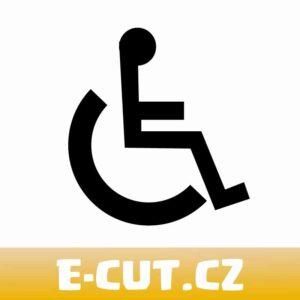 Samolepka WC - Tělesně postižený