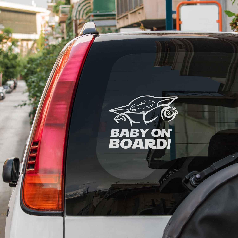 Samolepka Yoda Baby On Board na auto