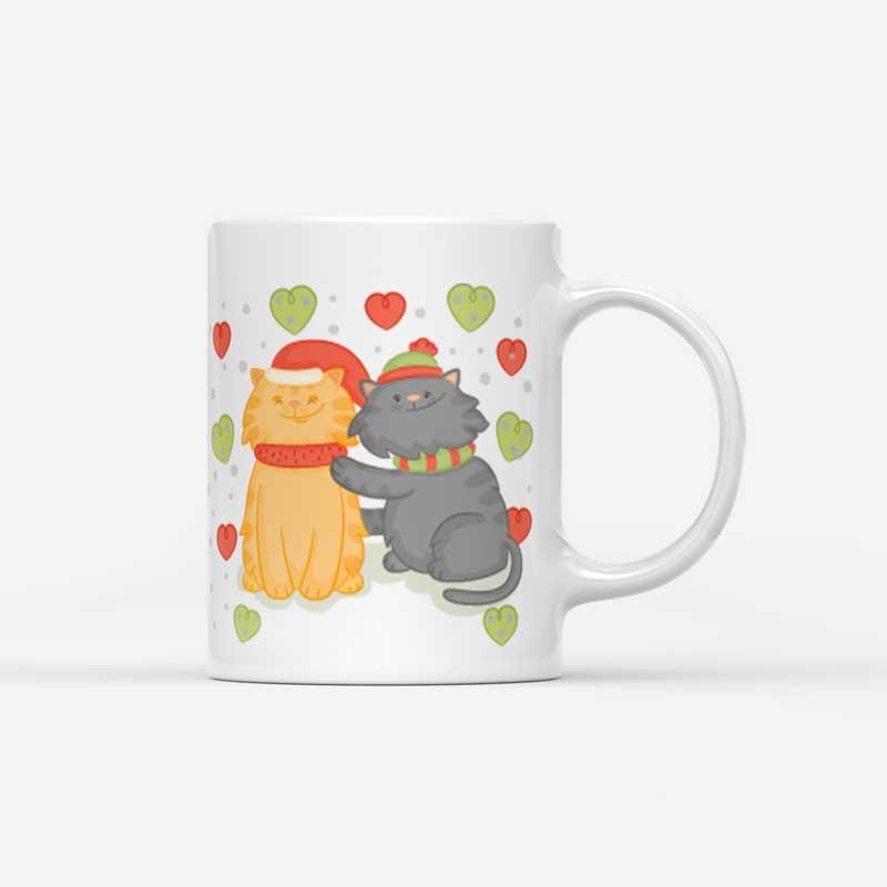 Vánoční hrnek Kocour a kočka Kiss Me