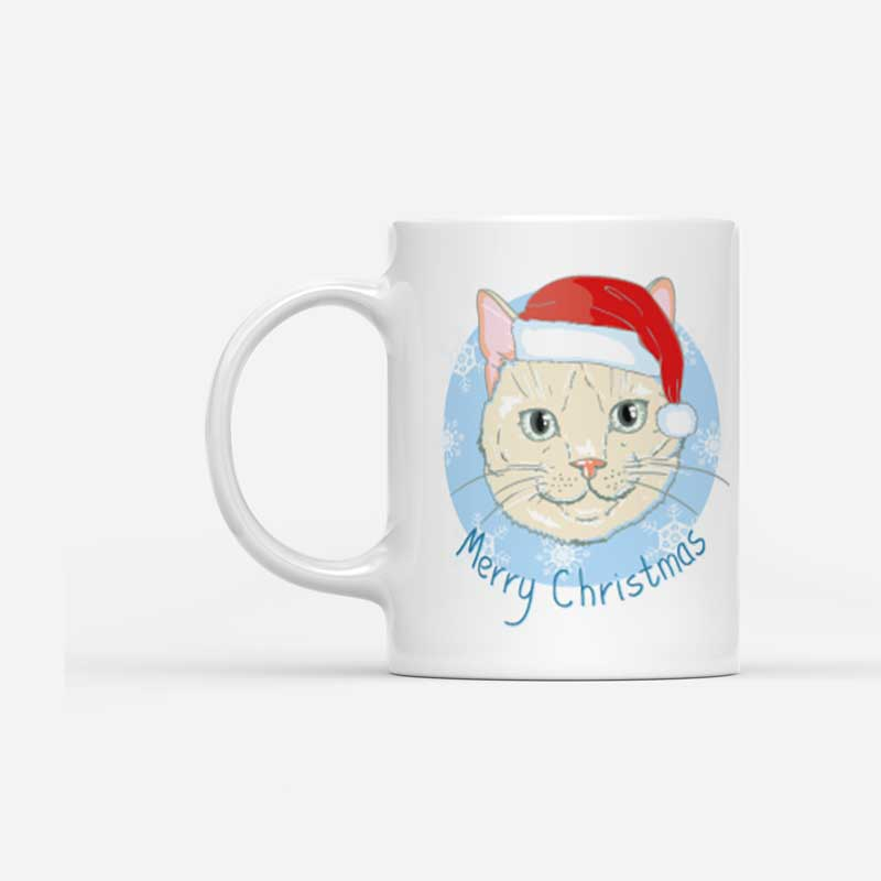 Vánoční hrnek Kocour Merry Christmas
