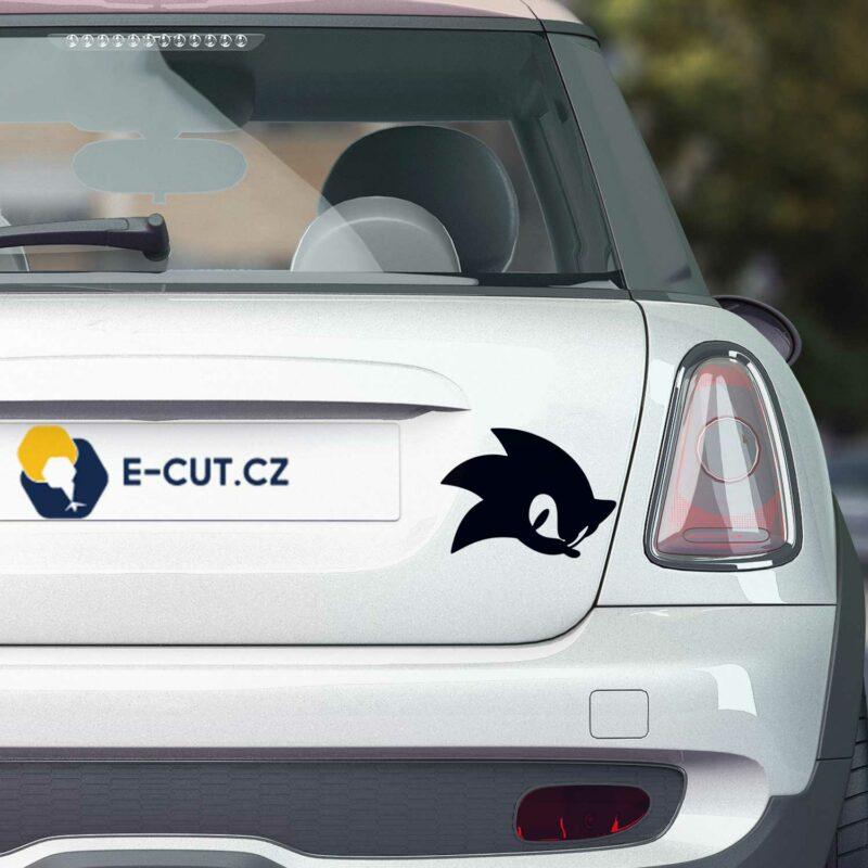 Samolepka na auto ježek Sonic