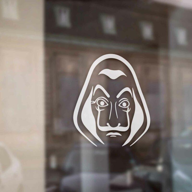 Samolepka Maska Money Heist Salvador Dali