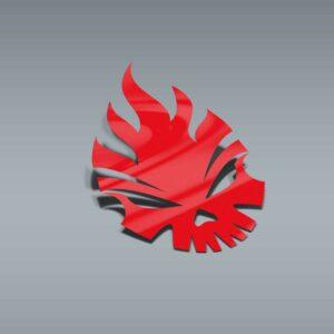 Samolepka Fire Skull