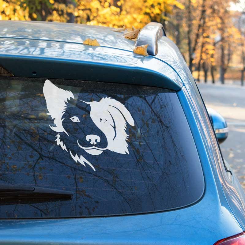 Originální samolepka na auto Pes - Psí Tvář