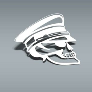 Samolepka Skull Officer