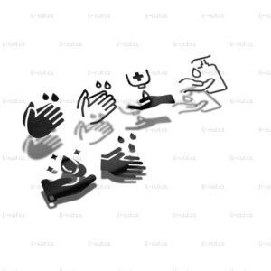 Samolepka Piktogram Dezinfekce rukou