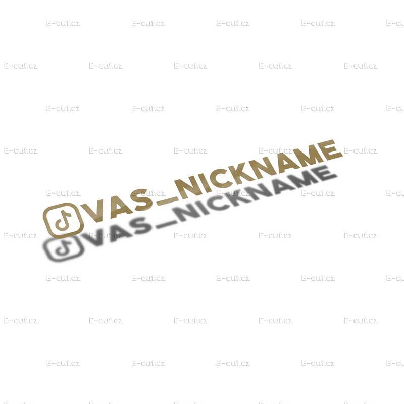 Samolepka TikTok - odkaz na profil