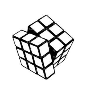 Samolepka Rubikova kostka