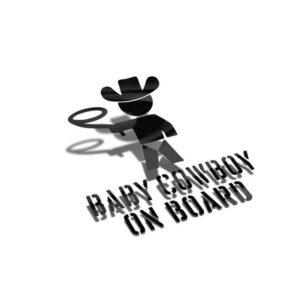 Samolepka Baby Cowboy On Board