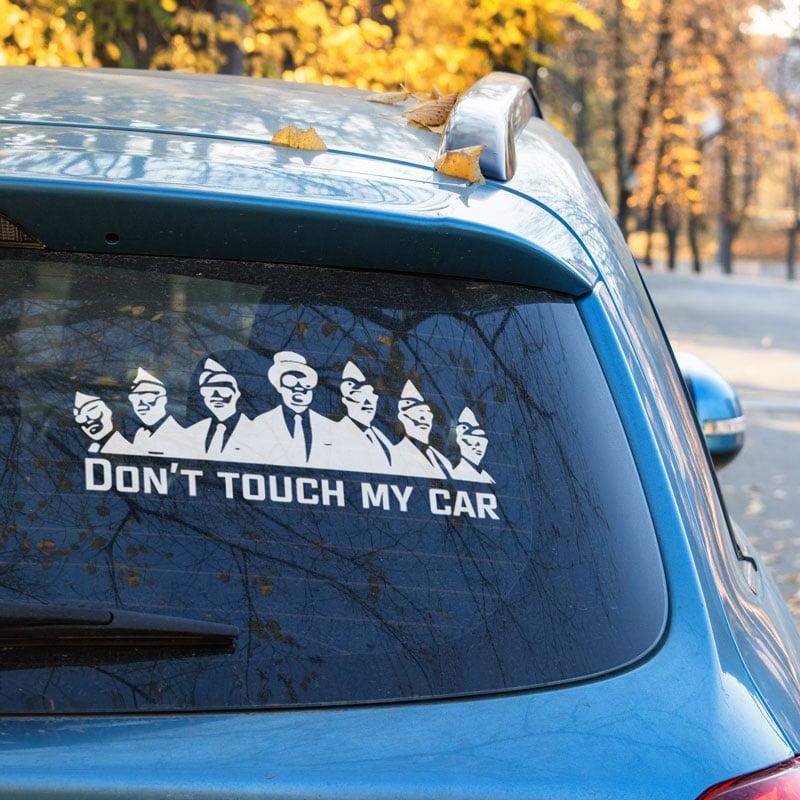 Samolepka Don't touch my car