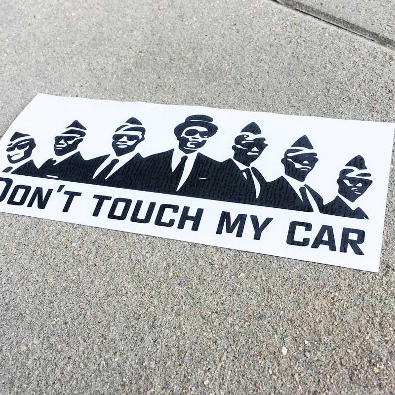 Samolepka Don't touch my car (COFFIN DANCE)