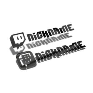 Samolepka Twitch profil