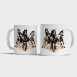 Hrnek Tři koně