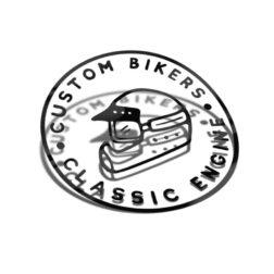 Samolepka Custom Bikers - Classic Engine