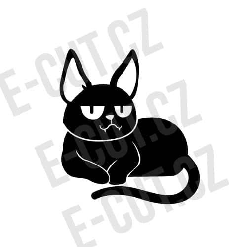 Samolepka Kočka halloween